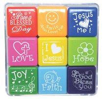 CHRISTIAN STAMP BOX SET OF 9