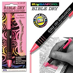 BIBLE DRY HIGHLIGHTER PINK