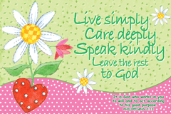 POSTER : LIVE SIMPLY