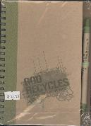 ECO FRIENDLY NOTEBOOK & PEN:GOD RECYCLES