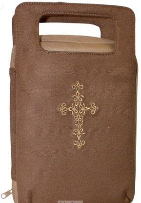BIBLE CASE:HANDLE BROWN