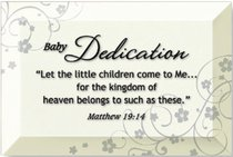 ARTISAN GLASS PLAQUE: BABY DEDICATION