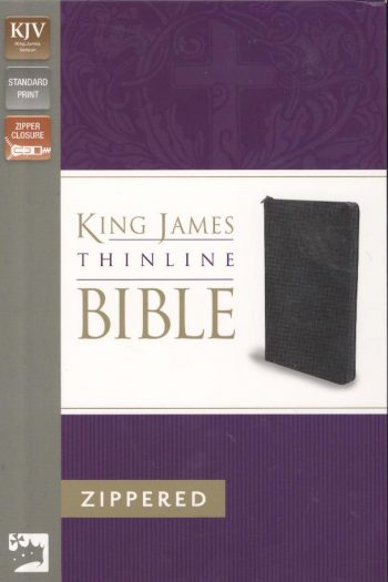 KJV 2011 THINLINE ZIP BIBLE BLACK