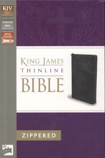 KJV 2011 THINLINE ZIP BIBLE BLACK
