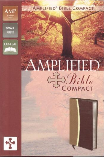 AMPLIFIED BIBLE COMPACT CAMEL/BURG