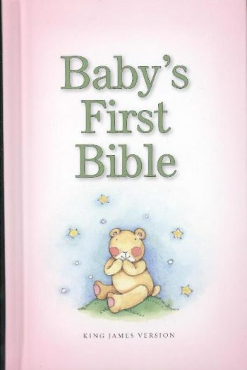 KJV BABY'S FIRST BIBLE PINK H/C