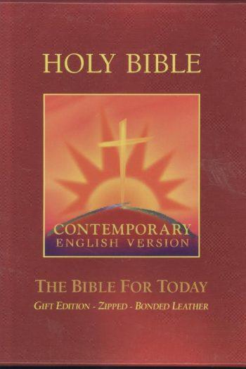 CEV BURGUNDY BIBLE  ZIP