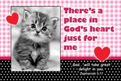POSTER : THERE'S A PLACE IN GOD'S HEART