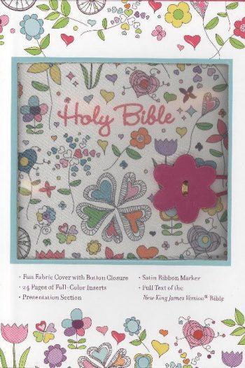 NKJV BUTTON BIBLE W/BUTTON CLOSURE