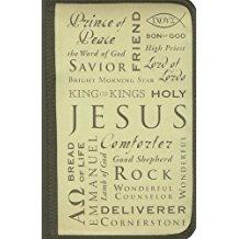BIBLE CASE: NAMES OF JESUS BROWN