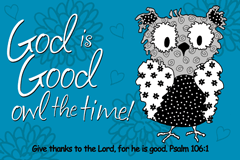 GOD IS GOOD OWL THE TIME POSTER