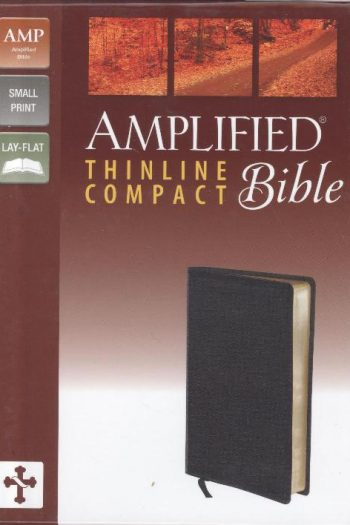 AMPLIFIED THIN COMPACT BLACK BIBLE