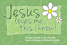 POSTER : JESUS LOVES ME