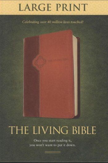 LIVING BIBLE L/P BROWN/TAN