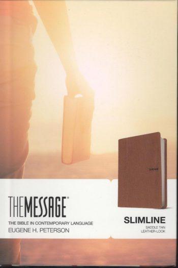MESSAGE SLIMLINE BIBLE TAN