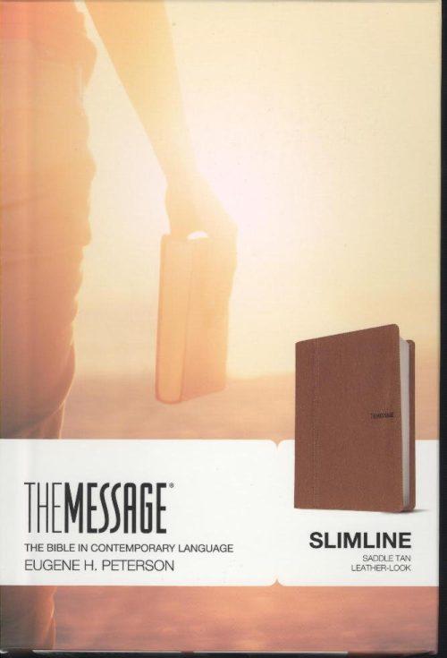 MESSAGE SLIMLINE BIBLE TAN-0