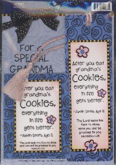 BOOKMARK/MAGNET: FOR A SPECIAL GRANDMA