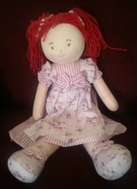 JULIA DOLL PURPLE DRESS
