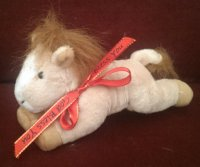 TOY HORSE 15CM VARIOUS COLOURS