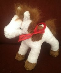 TOY HORSE 20CM ASSORTED COLOURS