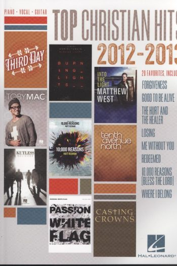 TOP CHRISTIAN HITS 2012/13 MUSIC BOOK