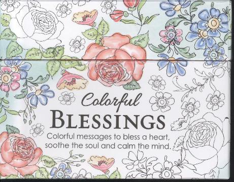 BOXED COLOURING CARDS: COLORFUL BLESSING