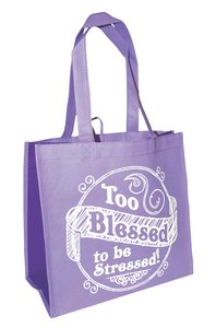 ECO TOTES:TOO BLESSED PURPLE