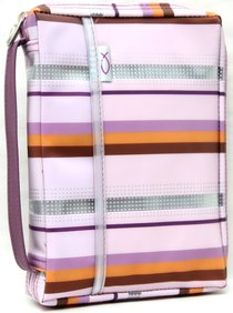 BIBLE COVER MEDIUM: PINK STRIPES