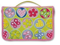 BIBLE COVER:BUTTERFLY/HEART/FLOWER PINK