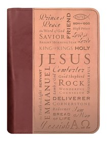 BIBLE COVER:NAMES OF JESUS BROWN/TAN