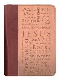 BIBLE COVER:NAMES OF JESUS BROWN/TAN