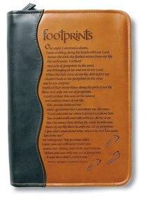 BIBLE COVER: FOOTPRINTS. MEDIUM