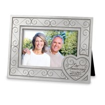 OUR ANNIVERSARY CAST STONE FRAME WITH HE
