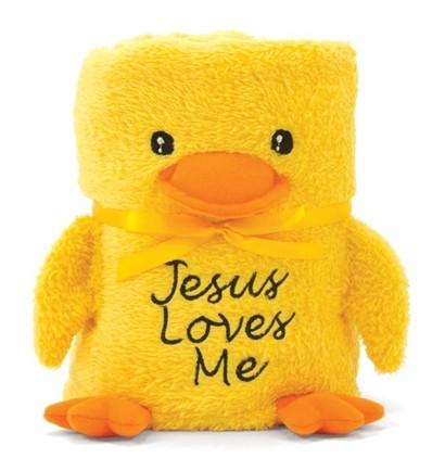 DUCK BABY BLANKIE: JESUS LOVES ME