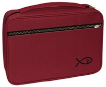 BIBLE COVER DELUXE BURGUNDY LGE