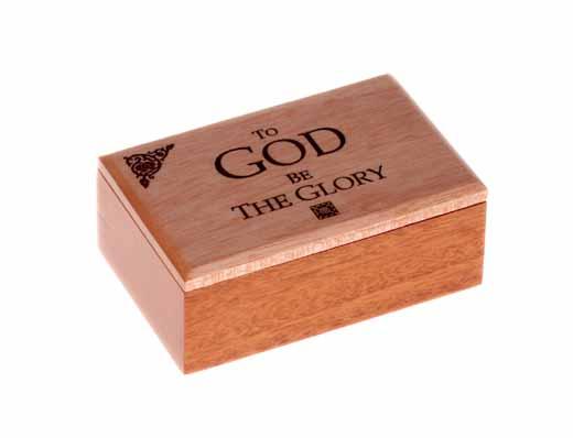 MAHOGANY WOODEN BOX: TO GOD BE THE GLORY