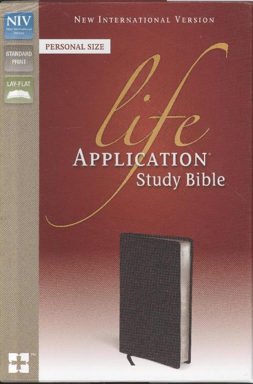 NIV LIFE APP PERS STUDY LEATHER BLACK