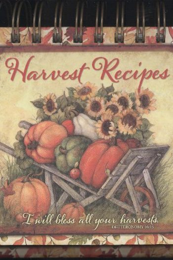 HARVEST RECIPES EASEL RECIPE BOOK