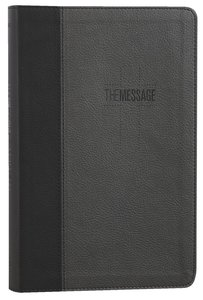 MESSAGE DELUXE GIFT BIBLE:BLACK SLATE
