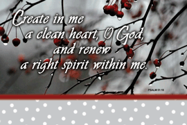 POSTER: CREATE IN ME A CLEAN HEART