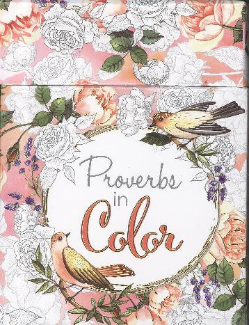 ADULT BOXED COLORING CARDS: PROVERBS