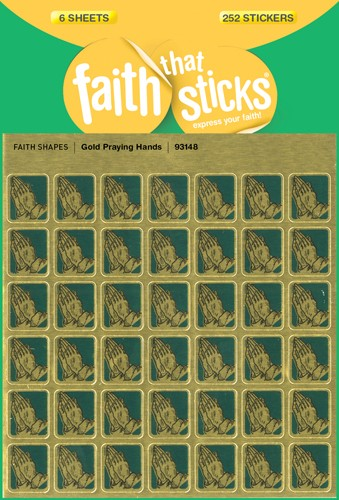 FAITH THAT STICKS:GOLD PRAYING HANDS