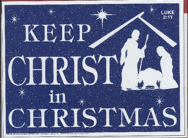 CAR MAGNET: KEEP CHRIST IN CHRISTMAS