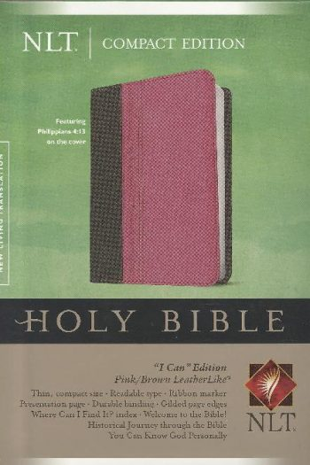 NLT COMPACT  BIBLE PINK + BROWN