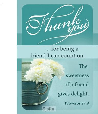 FRIENDSHIP CARD THANK YOU