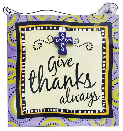 CANVAS : PURPLE GIVE THANKS