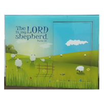 GLASS FRAME : THE LORD IS MY SHEPHERD