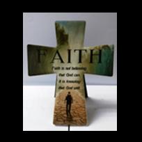 SMALL CROSS PLAQUE:FAITH IS