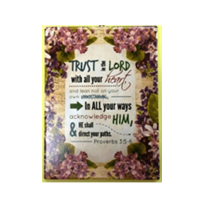 CERAMIC PLAQUE : TRUST IN THE LORD