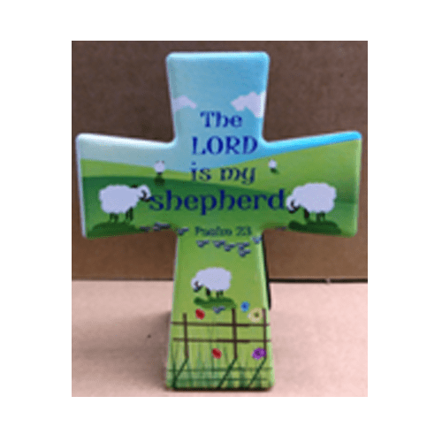 SMALL CROSS PLAQUE :LORD IS MY SHEPHERD